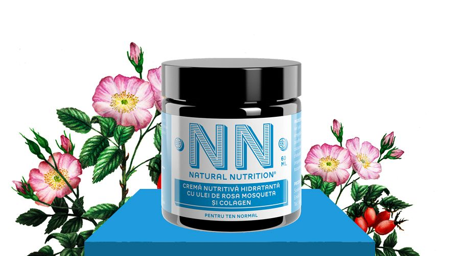 Nourishing-moisturizing cream with rose hip oil and collagen (60 ml)