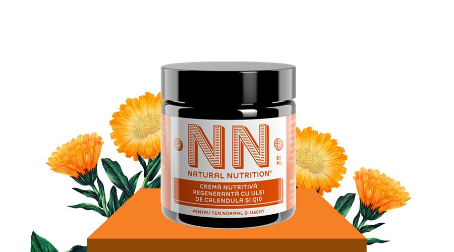 Nourishing-regenerating cream with q10 and calendula oil (60 ml)