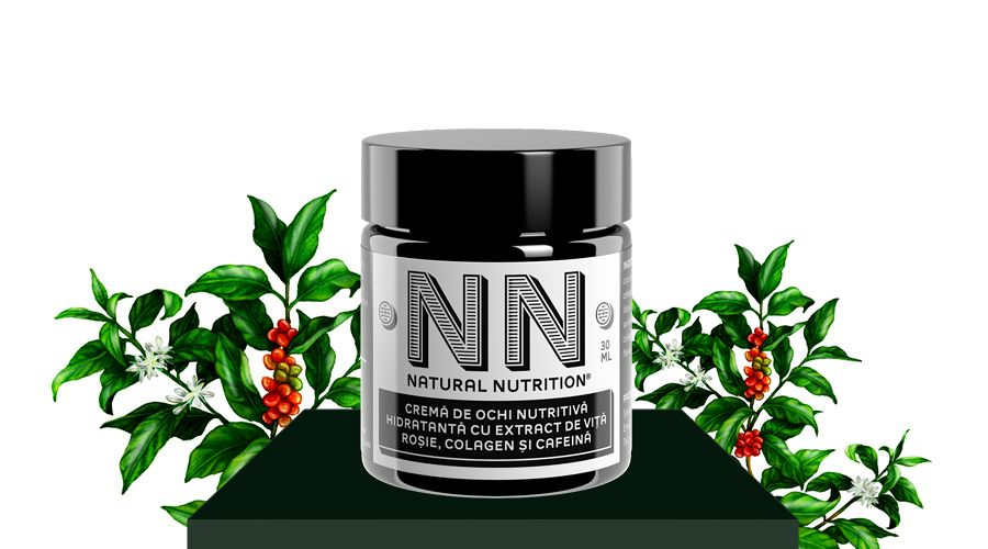 Nourishing eye cream with extract of red vine, collagen and caffeine (30 ml)